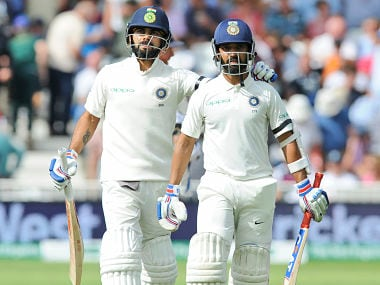 India vs England: Virat Kohli, Ajinkya Rahane's century stand guides visitors to 307/6 on Day 1