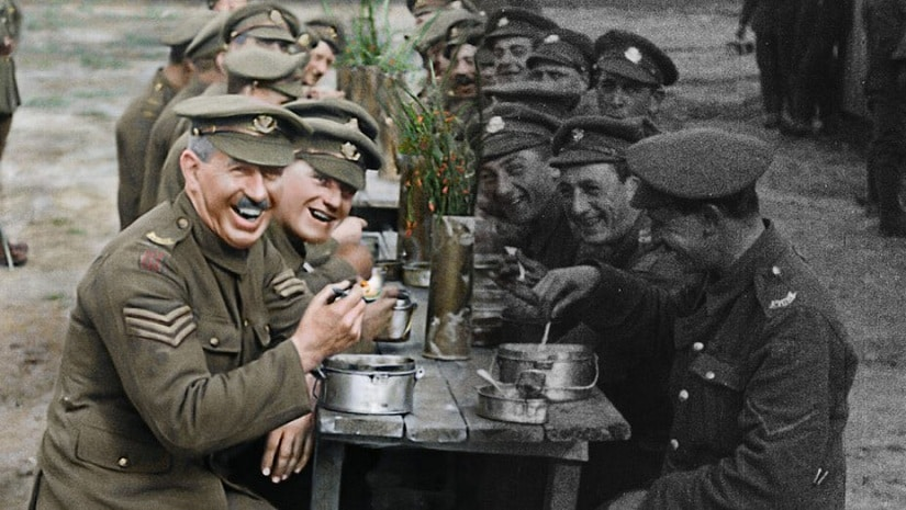 A still from They Shall Not Grow Old. Twitter @Comicfade