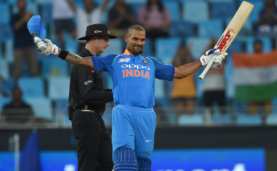 Shikhar Dhawan returned to form with a brilliant 127 notching his 14th ODI century. AFP
