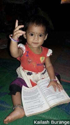 At 9 kg, Sanskruti, now a year old, is above average weight for her age group, according to the World Health Organization growth chart.