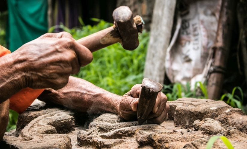 A self-taught artist, Ananda started sculpting at the age of 24