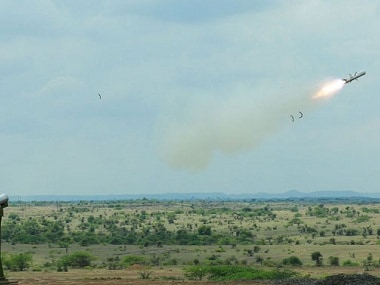 The DRDO successfully tested a MPATGM on Sunday. Twitter@DefenceMinIndia