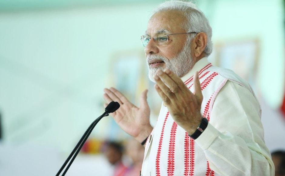 At the event, Narendra Modi said: