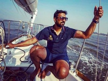 File image of INS sailor Abhilash Tommy. Image courtesy: Twitter/@abhilashtomy