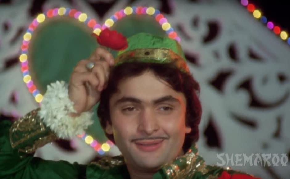 As Akbar in Amar Akbar Anthony (1977). Screengrab from YouTube