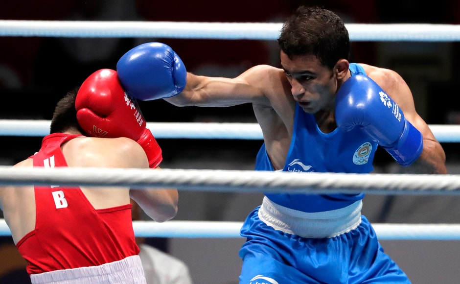 22-year-old Amit Panghal claimed the gold medal in the men's Light Fly (49kg) AP