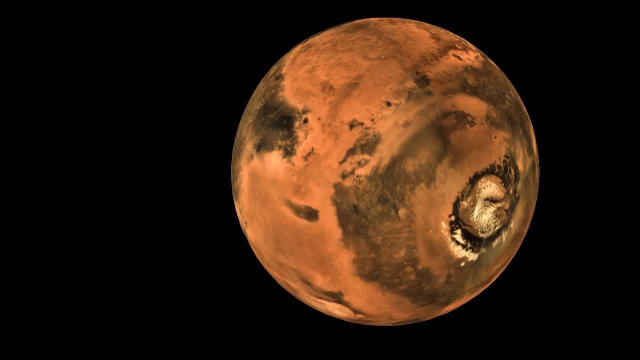 Another stunning global shot of Mars captured by Mangalyaan. Image courtesy: ISRO