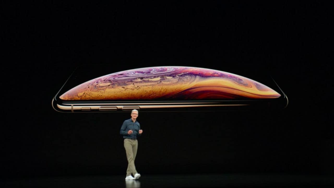 iPhone XS. Image: Apple Event 2018 Live Stream