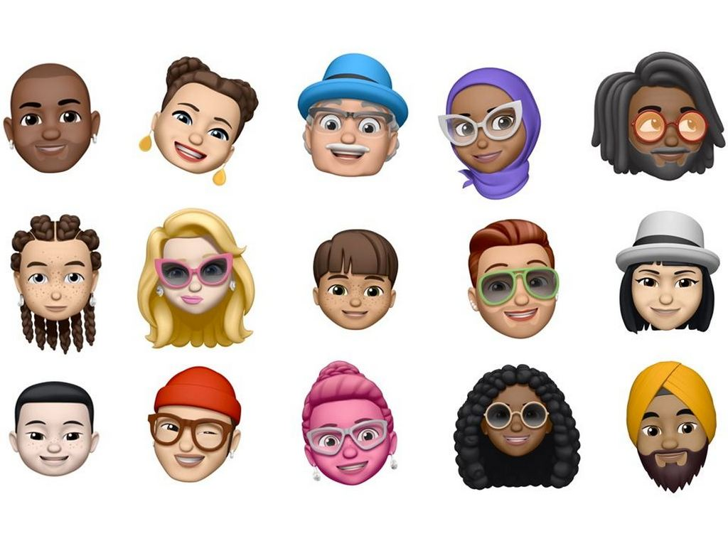 Memojis in iOS 12. Image: Apple
