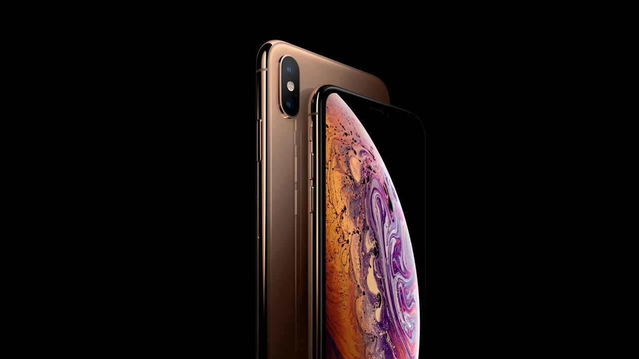 The Apple iPhone XS in Gold. Image: Apple