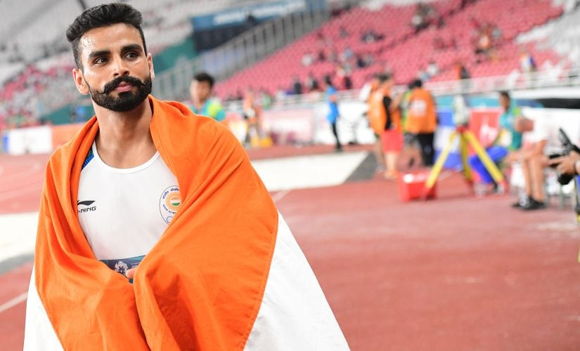 Arpinder Singh became the first Indian to win an Asiad gold in triple jump since 1970. AFP/Martin Bureau
