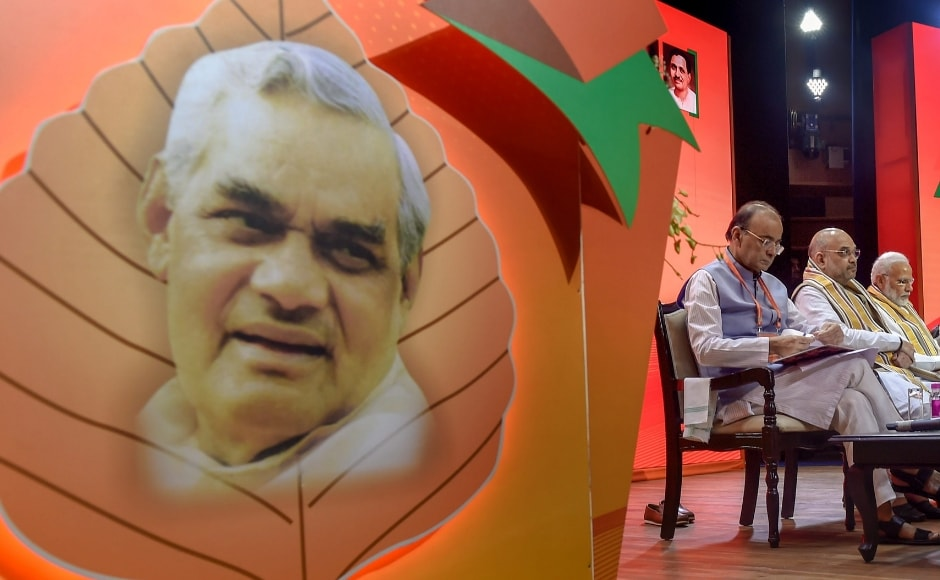 Modi also paid tributes to party stalwart Atal Bihari Vajpayee and recalled his message that the sun may have disappeared but stars should shine to further its ideology. He drew on the former prime minister's name to give the slogan 'Ajey Bharat, Atal BJP'. PTI