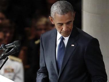 At John McCain memorial service, Barack Obama, George Bush, Meghan McCain deliver stinging rebuke of Donald Trump