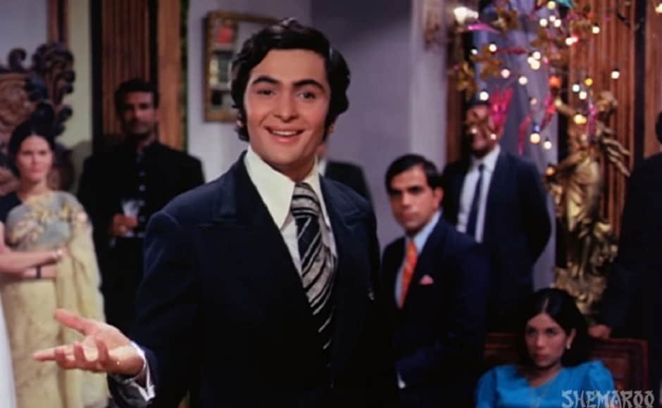 In Bobby (1973),Kapoor played Raj, the son of a wealthy businessman who falls in love with Bobby (played by Dimple Kapadia). Screengrab from YouTube