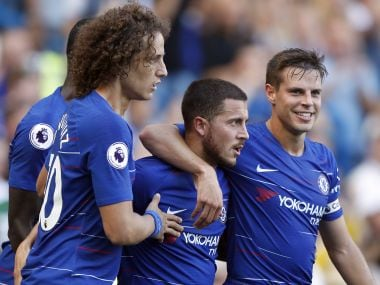Chelsea have a hundred percent record in the Premier League this season. AP