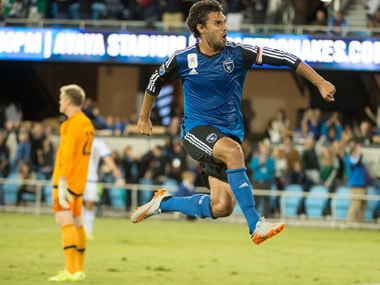 Chris Wondolowski currently has 142 goals in Major League Soccer, just three behind Landon Donovan's record of 145. Reuters