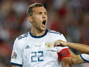 Denis Cheryshev scored three of Russia's five goals in their run to the 2018 World Cup quarters. Reuters