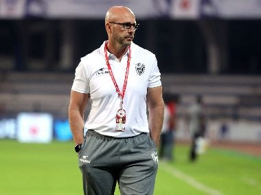NorthEast United FC coach Eelco Schattorie during last season's ISL. Image courtesy: ISL/SPORTZPICS