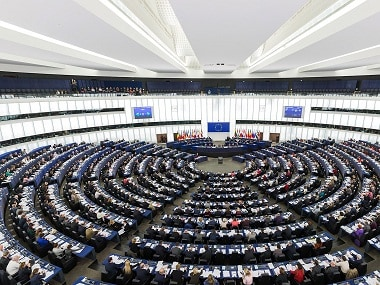 File image of the European Parliament's debating chamber. Wikimedia Commons