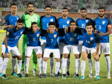 Indian football team. Image Courtesy: Twitter @IndianFootball