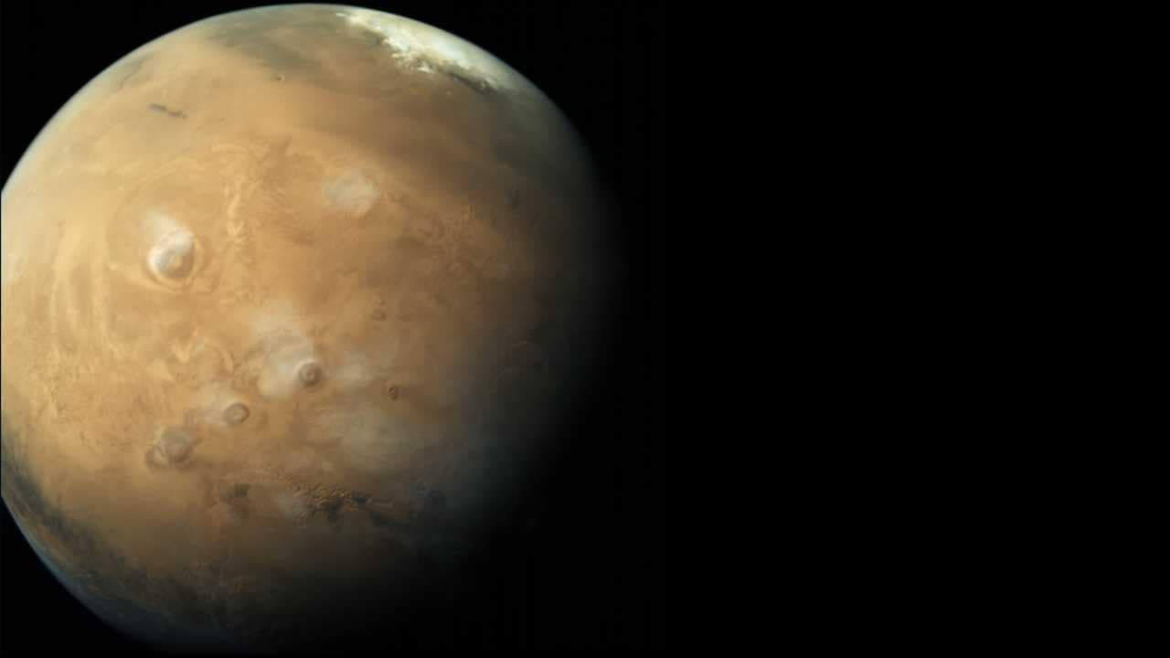 Global shot of Mars, captured by Mangalyaan's Mars Colour Camera (MCC). Image courtesy: ISRO
