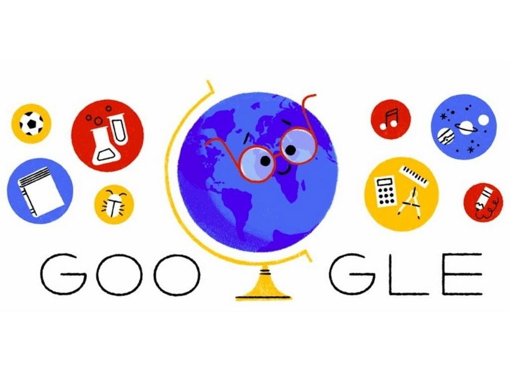 Google celebrates Teacher's Day along with the rest of India in its