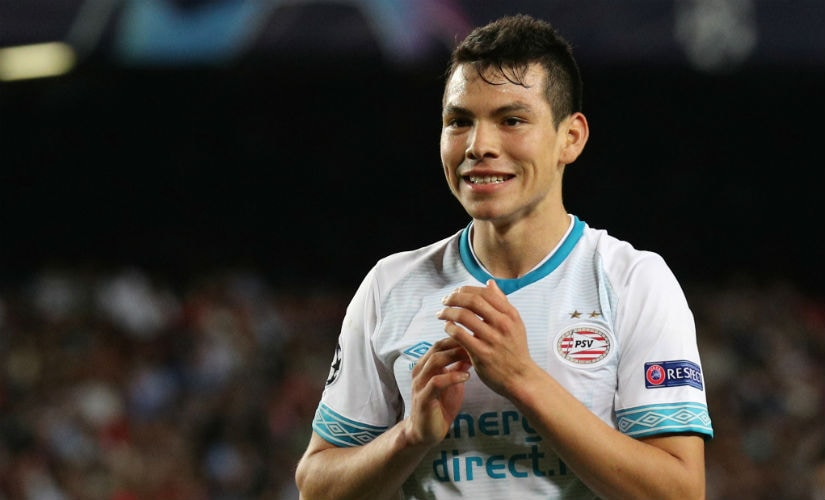 Hirving Lozano was among those who scored in the 3-0 win over Ajax on Sunday. Reuters