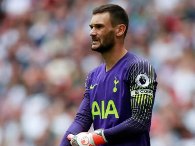 Hugo Lloris had earlier missed out on Tottenham Hotspur's Premier League clash against Liverpool. Reuters
