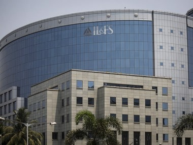 A logo of IL&FS (Infrastructure Leasing and Financial Services Ltd.) is seen on a building at its headquarters in Mumbai. Reuters