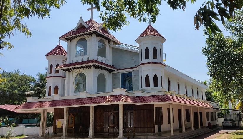 The Lourde Matha Church in Puthenvelikkara in Kerala's Ernakulam district. Image Courtesy: Firstpost/Greeshma Rai