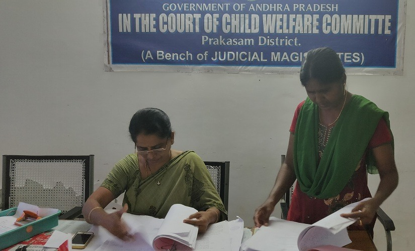 CWC chairperson G Bharathi (left) and CWC counsellor Anita (right). Firstpost/Greeshma Rai