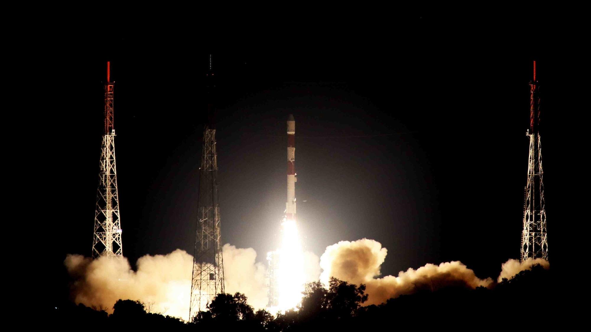PSLV-C42 Liftoff. Image: ISRO