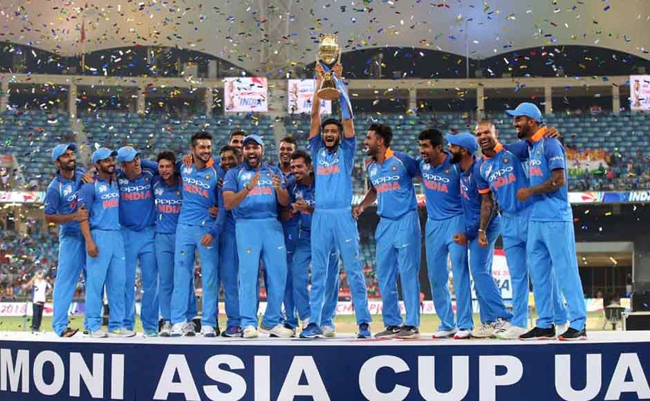 The Indian team won the Asia Cup 2018 trophy after beating Bangladesh in the final. AP