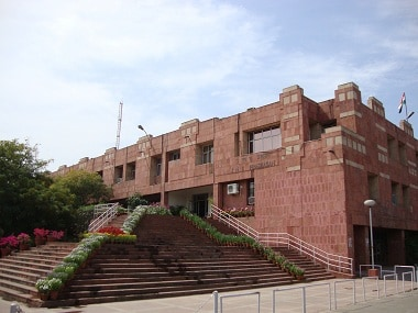 File image of the JNU campus. Image courtesy: jnu.ac.in