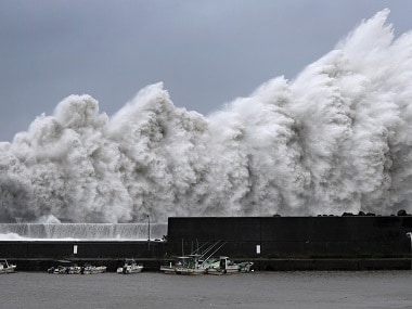 High waves triggered by Typhoon Jebi seen in Japan. Reuters