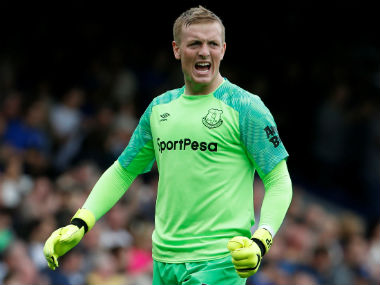Jordan Pickford moved to Everton from Sunderland on a deal worth $39 million. Reuters