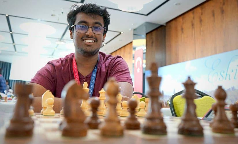 GM Karthik Venkataraman made his way to the top of the leader board winning three back to back games. Image credit: Amruta Mokal