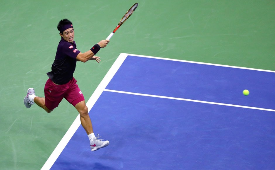 Kei Nishikori was outclassed by the Serbian in a match that ended 6-3, 6-4, 6-2 in favour of Djokovic. AP