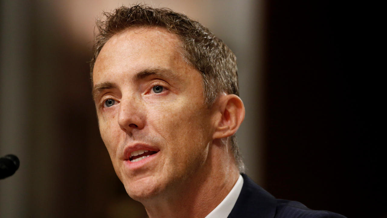 Keith Enright, chief privacy officer at Google LLC, testifies before the Senate Commerce, Science and Transportation Committee on safeguards for consumer data privacy in Washington, U.S., September 26, 2018. REUTERS/Joshua Roberts - RC17971A0280
