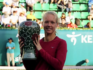 Kiki Bertens claimed her third WTA tour single's title of the season. AP