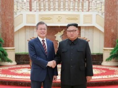 File image of Kim Jong-un and Moon Jae-in. Reuters