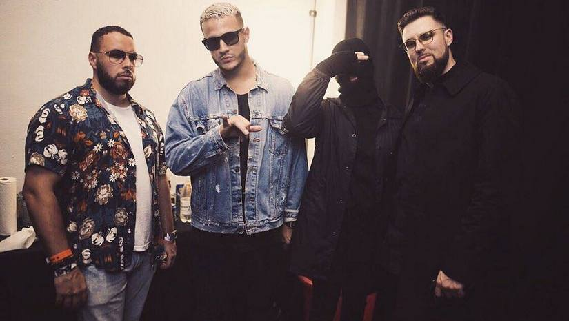 From left to right: Mercer, DJ Snake, Malaa and Tchami. Image via Facebook @djsnake.fr