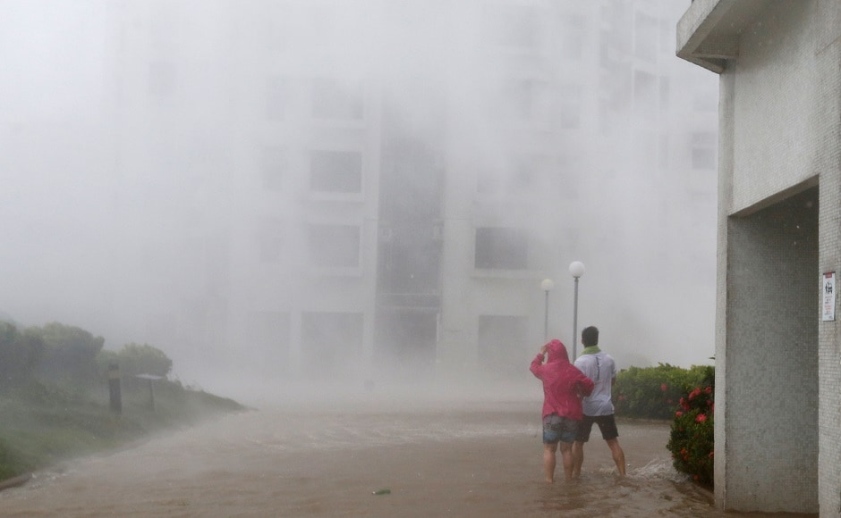 The Hong Kong Observatory said Mangkhut was the most powerful cyclone to hit the city since 1979. The storm, with gusts of more than 230 kilometres per hour, sent buildings swaying and waters surging into homes and shopping malls in Hong Kong, with some roads waist-deep in water. AP