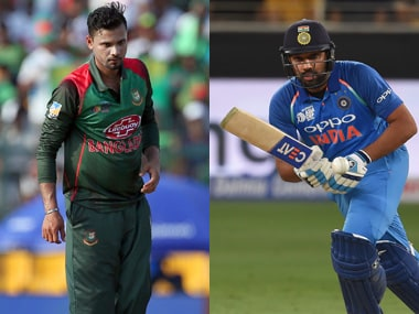 File image of Indian captain Rohit Sharma and Bangladesh captain Mashrafe Mortaza. Image credit: Agencies