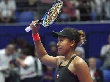 Naomi Osaka in action during the Pan Pacific Ope. AP Photo