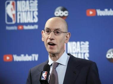 File photo of NBA Commissioner Adam Silver. AP Photo
