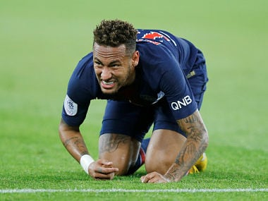 Soccer Football - Ligue 1 - Paris St Germain v Caen - Parc des Princes, Paris, France - August 12, 2018 Paris St Germain's Neymar REUTERS/Regis Duvignau - RC16D7EF7870