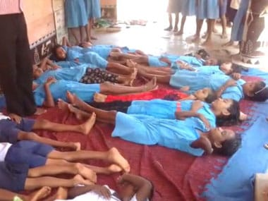 Children fall ill after consuming deworming tablets at Gunsar Upper Primary School in Sainthala block of Bolangir district in Odisha. Image courtesy 101Reporters