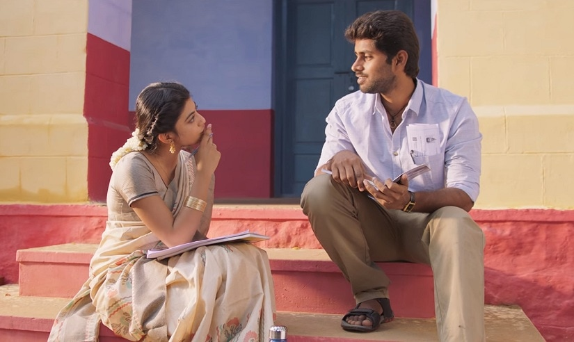 Anandhi and Kathir in a still from Pariyerum Perumal. YouTube screengrab