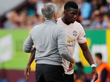 File image of Paul Pogba and Jose Mourinho. Reuters